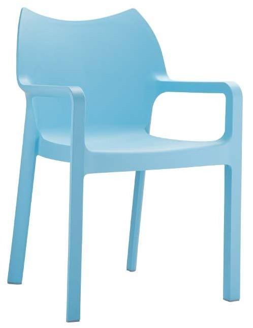24Designs Tuinstoel Diva - Stapelbaar - IJsblauw
