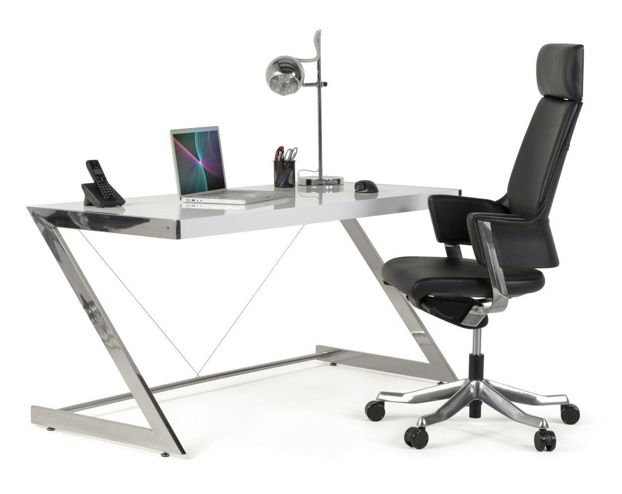 24Designs Bureaustoel Lido - Hoofdsteun - Leer - Zwart
