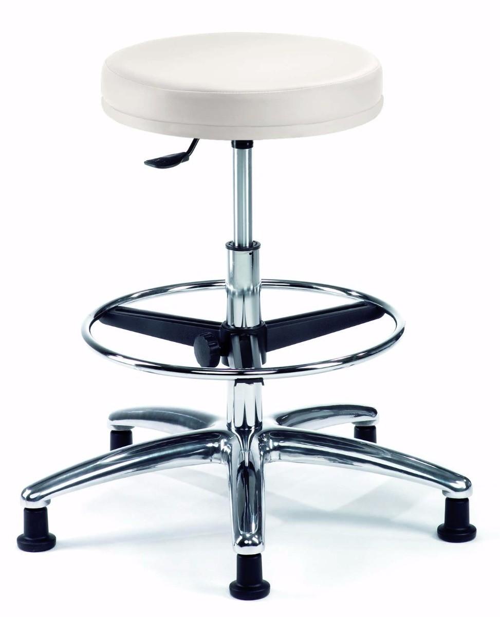 24Designs Bureaustoel - Werkkruk - Jamie - Wit Kunstleer