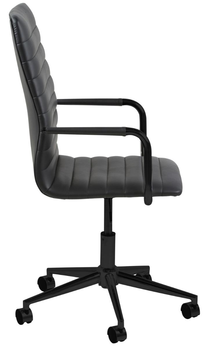 24Designs Bureaustoel Winston - Kunstleer - Zwart