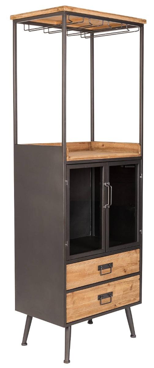 24Designs Kast Kiona Hoog - 60x40x171 - Hout - Metaal