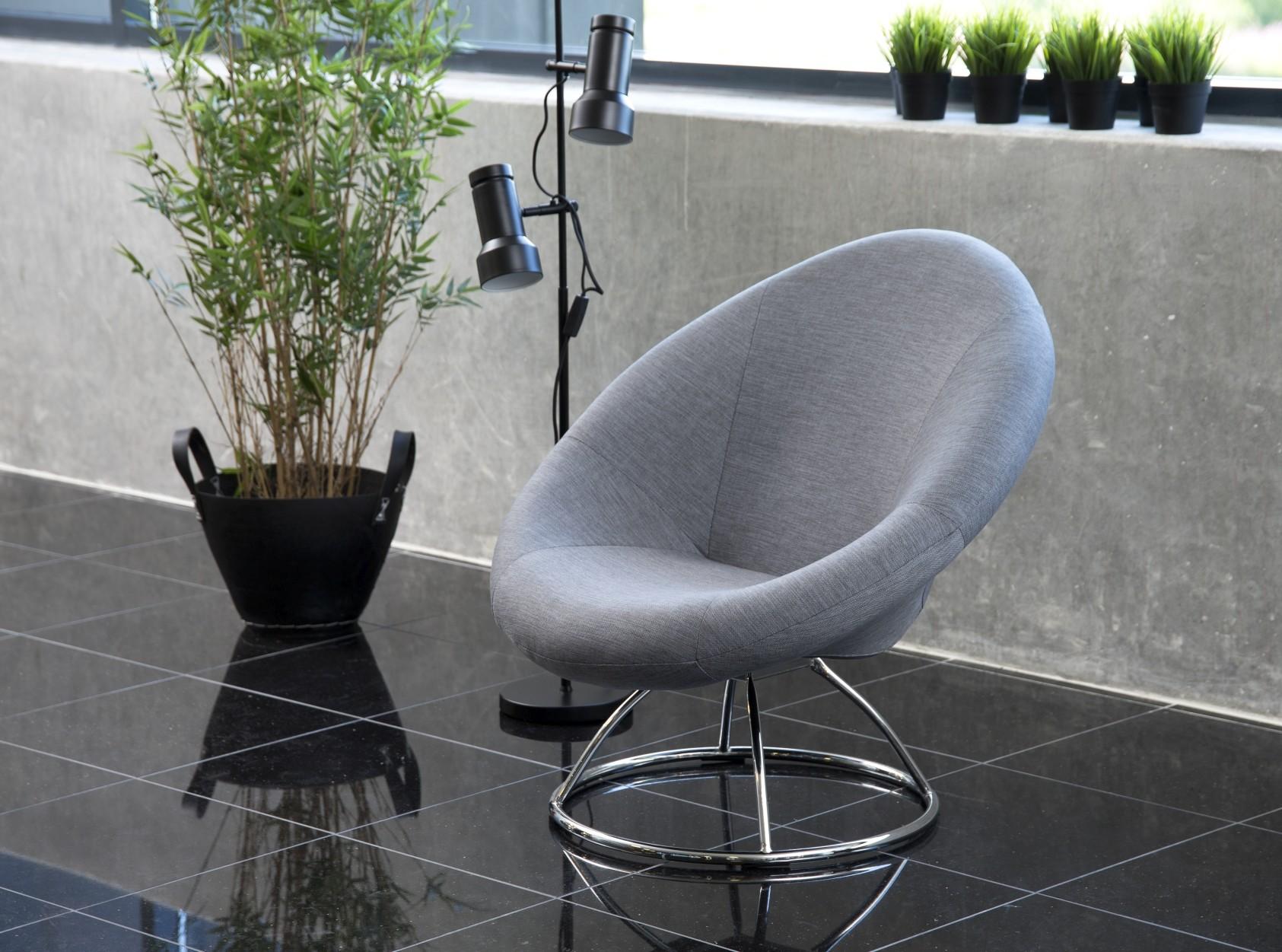 24Designs Lounge Fauteuil Cirque - Lichtgrijs