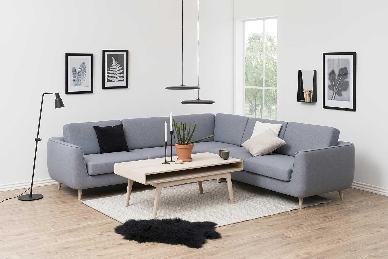 24Designs Salontafel Danish - 130x70x50 - Eiken White Wash