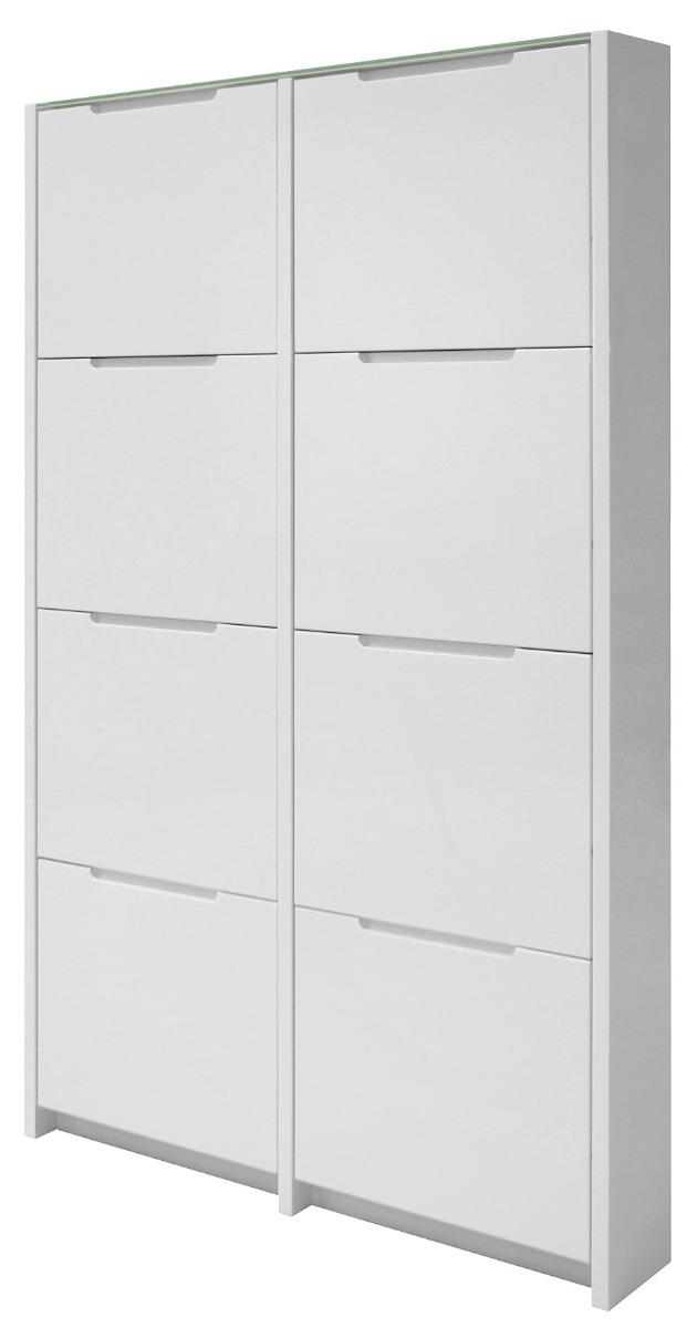 24Designs Wess Schoenenkast 8-Vaks - 102,5x17x160 - Hoogglans Wit