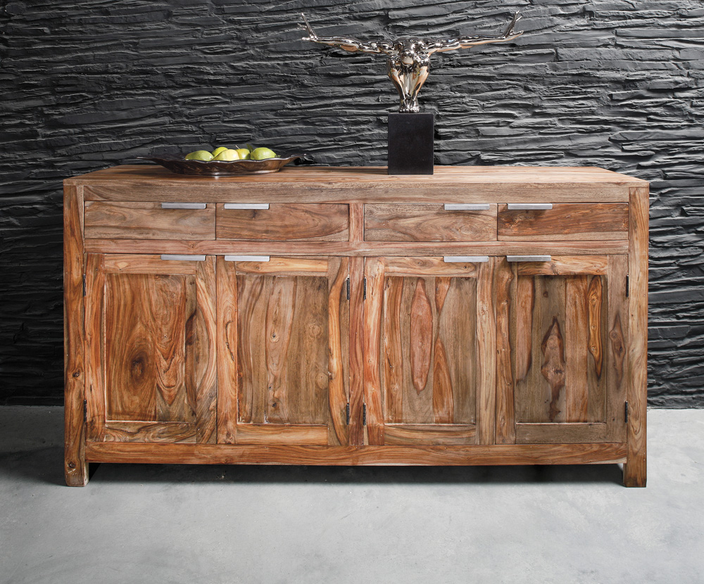Kare Design Dressoir Authentico - L180 X B45 X H95 Cm - Massief Sheesham Hout