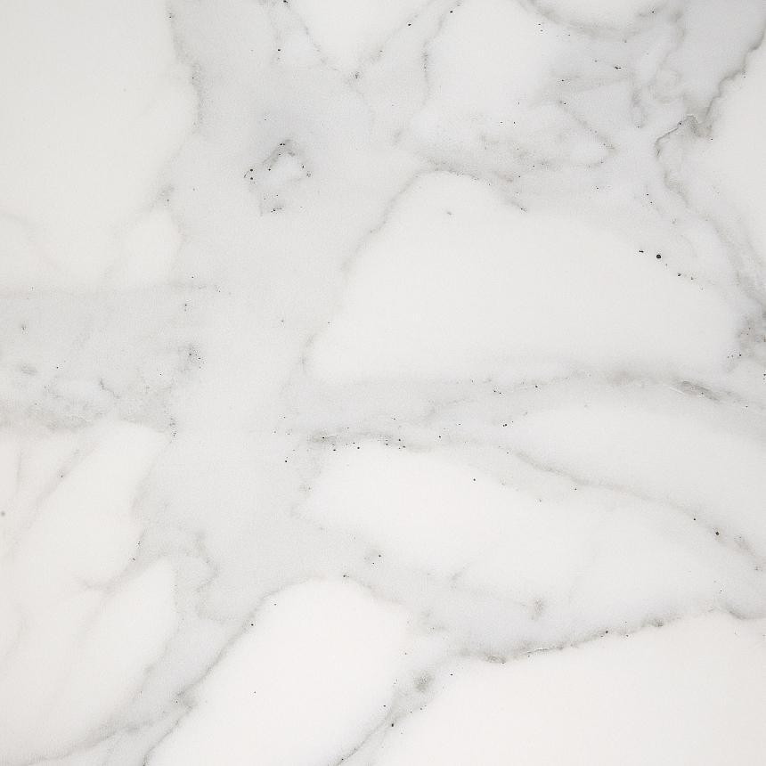 LaForma Arya Tafel 160x90x75 Cm - Keramiek Blad Marmereffect - Mat RVS Onderstel