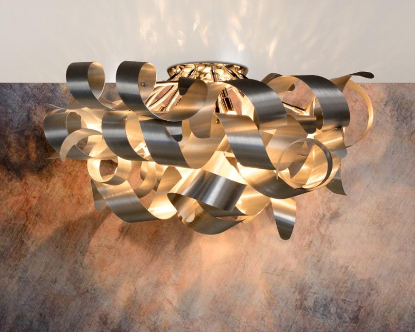 Lucide SALE - Plafondlamp Atoma 6-Lichts Dimbaar - Mat Chroom