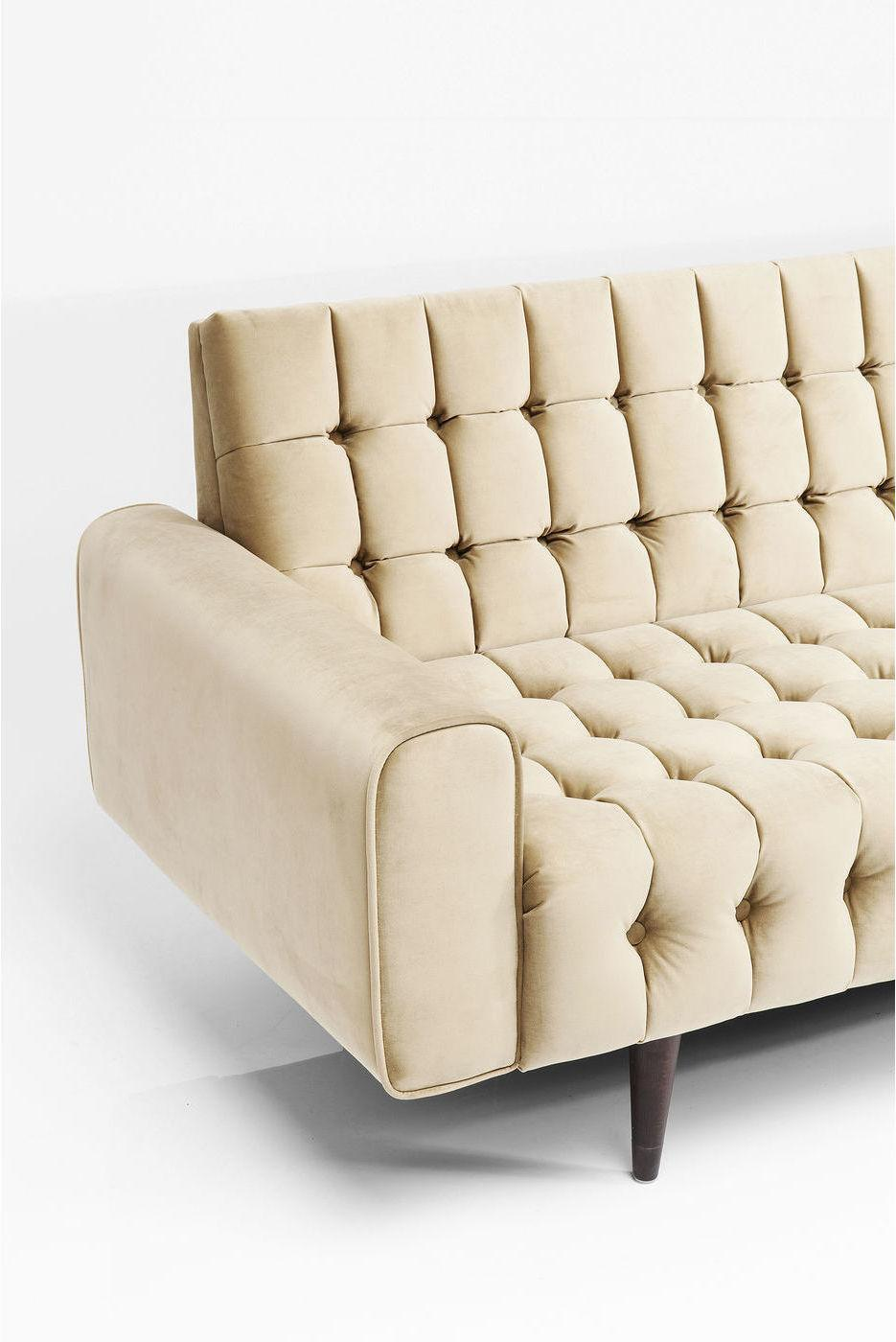 Kare Design Milchbar Goldy 3-Zits Bank - B233 Cm - Goud Fluweel