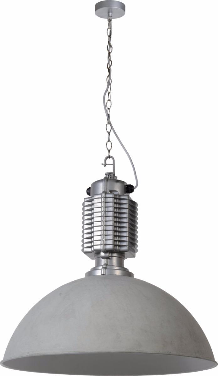 Lucide Verstelbare Hanglamp Bocksey 1-LichtsØ60 X H61 Cm - Metaal Grijs