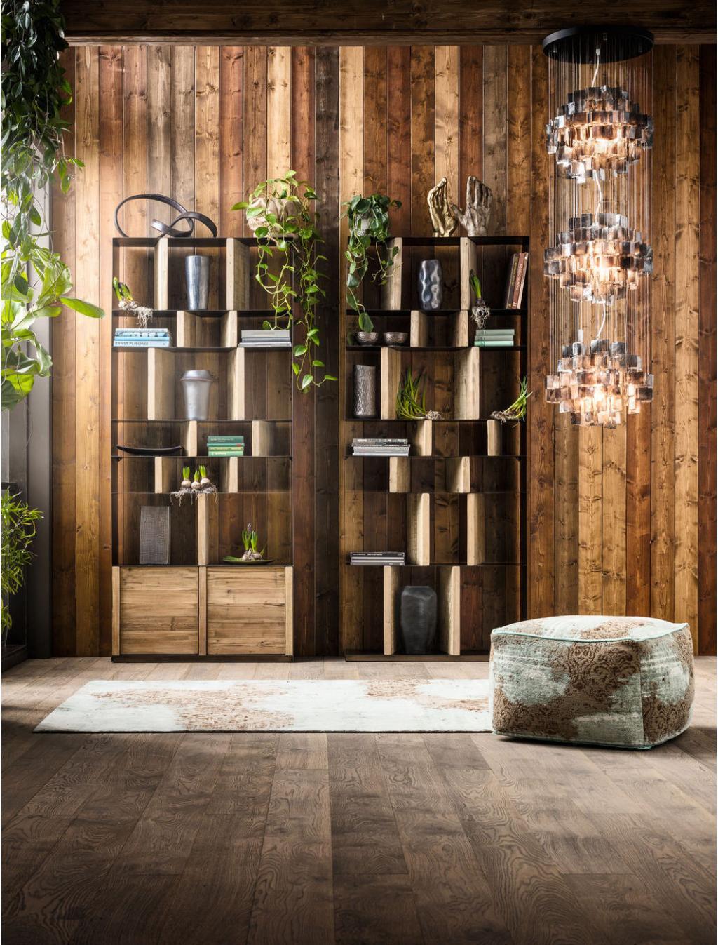 Kare Design - Boekenkast Storm - Hoogte 234 X 100 Cm Breed - Zwart Metaal