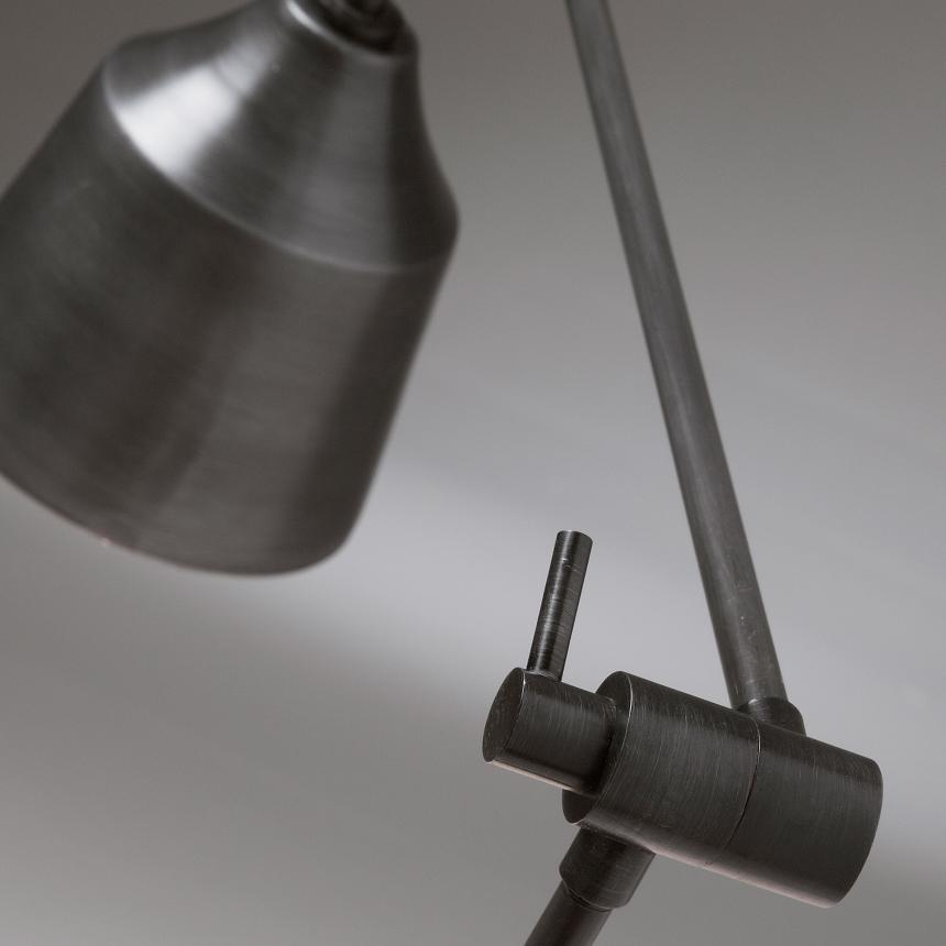 LaForma Boogen Tafellamp 1-Lichts 60x70 Cm - Grafiet Grijs