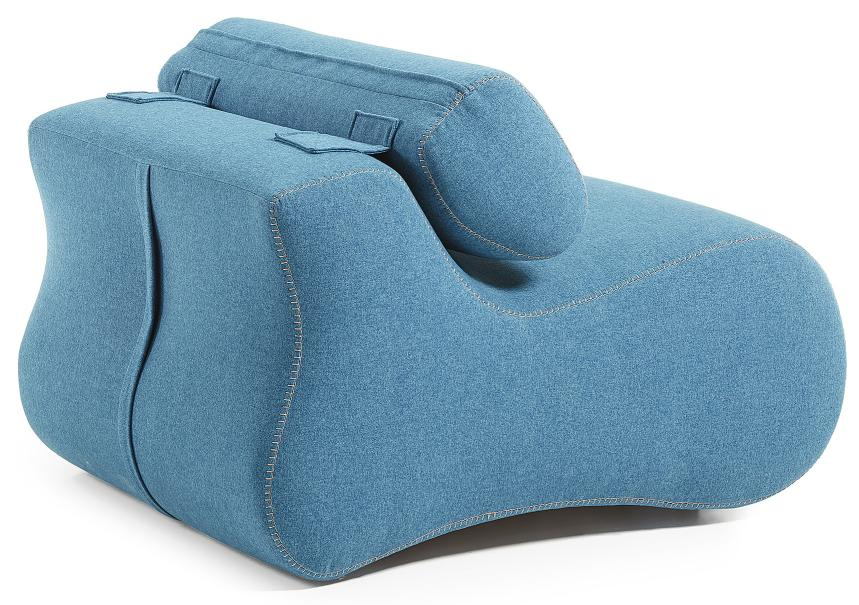 LaForma Club Relax Fauteuil - Donkerblauwe Stof