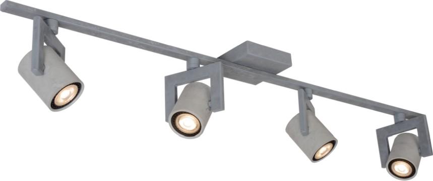 Lucide Plafondspot Conni-LED GU10 4-Lichts Dimbaar - Grijs