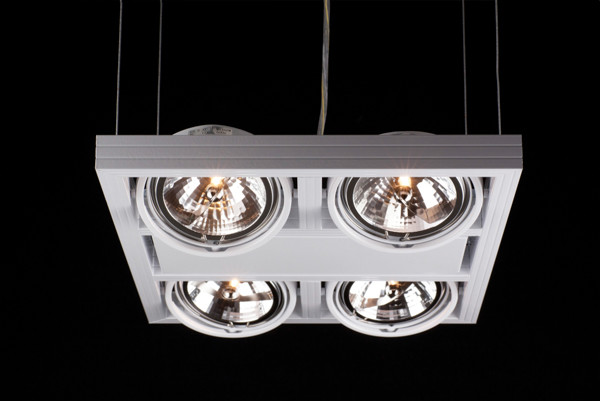 Linea Verdace Plafondspot Cool-4 Down - Wit - Verstelbare Halogeen Lamp