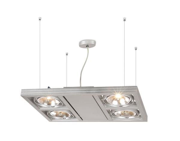 Linea Verdace Plafondspot Cool-4 Down - Zilver - Verstelbare Halogeen Lamp