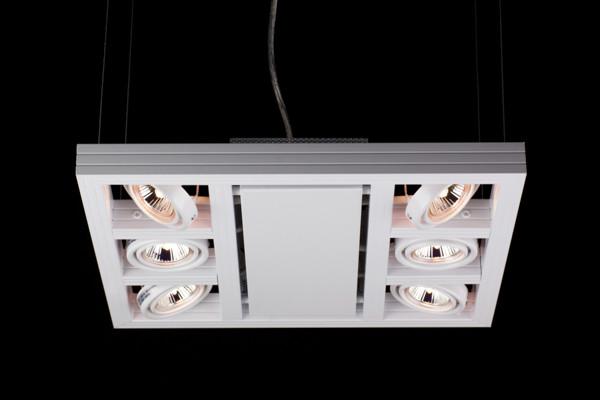 Linea Verdace Plafondspot Cool-6 Up Vierkant - Wit - Verstelbare Halogeen Lamp