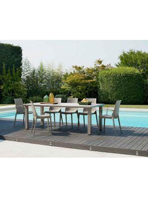 SCAB Lucrezia Tuinstoel en Terrasstoel Stapelbaar - Set van 6 - Kunststof Brons