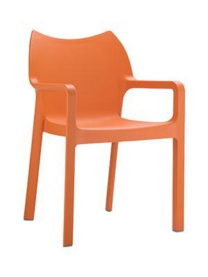 4 Tuinstoelen Diva Stapelbaar - Oranje