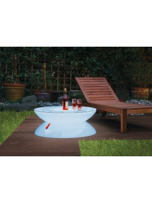 Moree Lounge Outdoor LED Salontafel met Accu - Ø84 x H34 cm