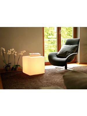 Moree Cube Indoor Bijzettafel - L44 x B44 x H45 cm - Wit