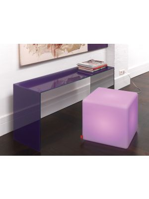 Moree Cube Indoor Bijzettafel met Multicolor LED - L44 x B44 cm