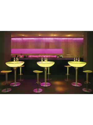 Moree Lounge Indoor LED Pro Bartafel - Ø84 x H105 cm - Wit