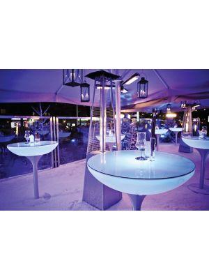 Moree SALE - Lounge Outdoor LED Pro Bartafel - Ø84 x H105 cm - Wit