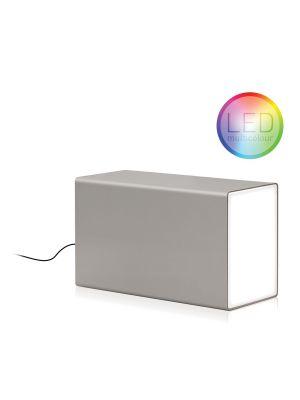 Moree Eraser Multicolor LED Tafellamp - L38 x B13 cm - Zilver