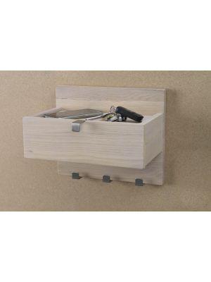 Rowico Confetti Wandplank - B30 x D22 x H25 cm - Whitewash Eiken