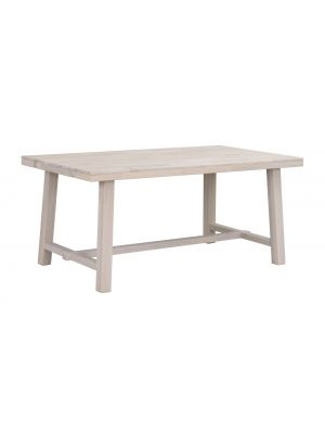 Rowico Brooklyn Verlengbare Eettafel - Massief Whitewash Eiken - L170 x B95 x H75 cm