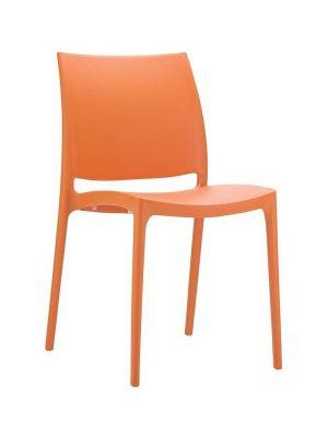 24Designs Stapelbare Tuinstoel Maggy - Kunststof - Oranje
