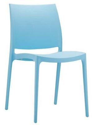 24Designs Stapelbare Tuinstoel Maggy - Kunststof - IJsblauw