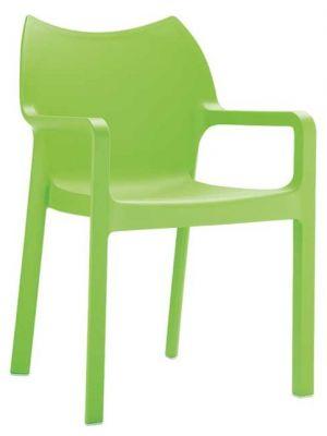 24Designs Set (4) Tuinstoelen Diva Stapelbaar - Groen