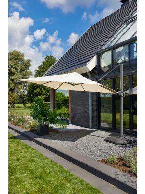Hartman Shadowflex Deluxe Parasol – 400 x 400 cm – Kantelbaar – Beige