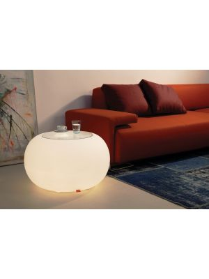 Moree Bubble Indoor Bijzettafel - Ø68 x H41 cm - Wit