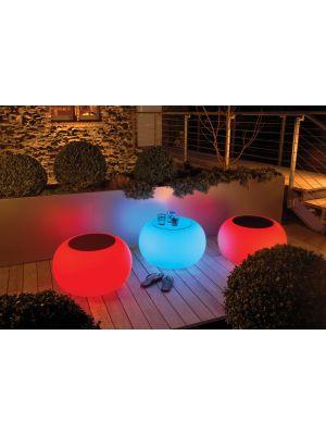 Moree Bubble Outdoor LED Bijzettafel met Accu - Ø68 x H41 cm