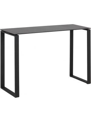 24Designs Sidetable Serenity - B110 x D40 x H76 cm - Zwart Keramiek - Zwart Metalen Onderstel