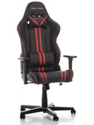 DXRacer Racing Stripes-series Game & Bureaustoel - Zwart/Rode Strepen PU