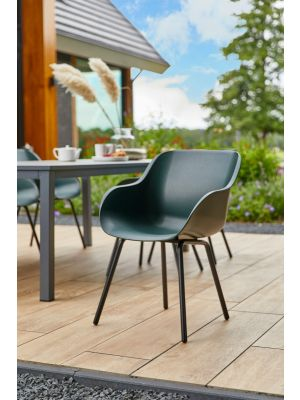 Hartman Sophie Rondo Elegance Chair - Set van 2 Tuinstoelen - Night Green