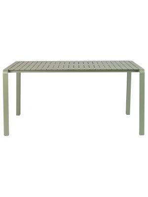 Zuiver Vondel Aluminium Tuintafel - L168 x B87 x H75 cm - Gepoedercoat Groen