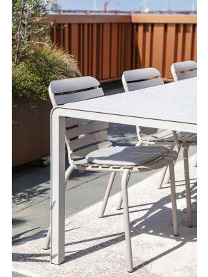 Zuiver Vondel Eetbank - Aluminium Tuinbank - B129 x D45 x H45 cm - Gepoedercoat Aluminium - Clay (Beige)