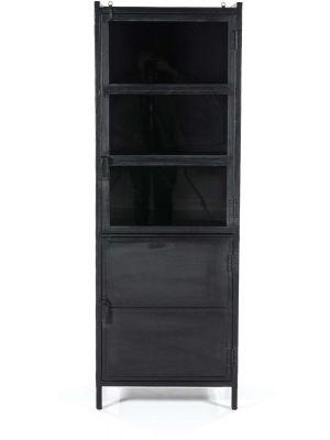 Eleonora Industrie Opbergkast 2-Deurs - 5-Vakken - B63 x D42 x H180 cm - Zwart