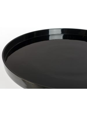Zuiver Shiny Bomb Ronde Bijzettafel - Diameter 40 x H50 cm - Zwart