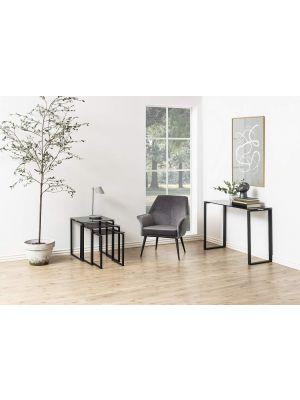 3 Bijzettafels Serenity - Helder Glas - 50 cm