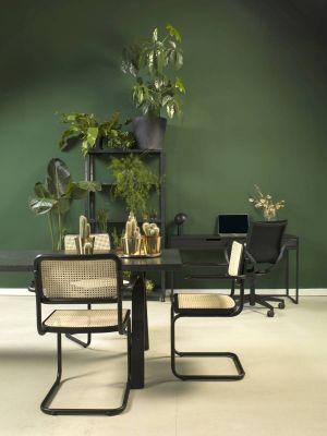 24Designs Alessandro Stoel - Set van 2 - Webbing - Zwart Sledeframe