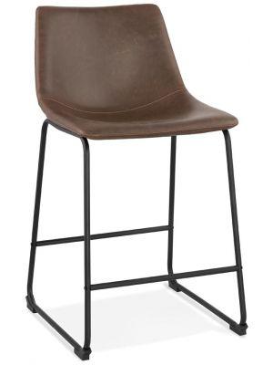24Designs Barkruk Gaucho - Zithoogte 62 cm - Bruin Kunstleer