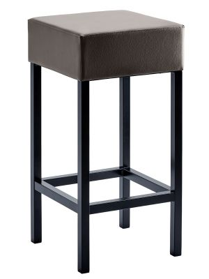 24Designs Barkruk Russel - Zithoogte 64 cm - Bruin Kunstleer - Zwart Onderstel