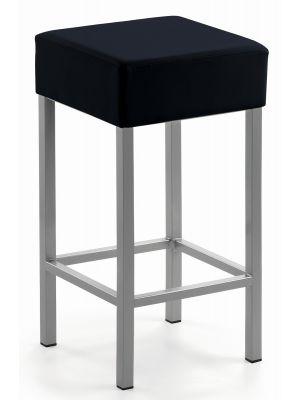 24Designs Barkruk Russel - Zithoogte 64 cm - Zwart Kunstleer