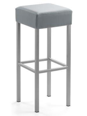24Designs Barkruk Russel - Zithoogte 81 cm - Grijs Kunstleer