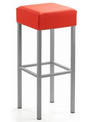 24Designs Barkruk Russel - Zithoogte 81 cm - Rood Kunstleer